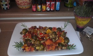 TCs vegan veggie stir fry stew Final 300x179 Award Winning Superfood Vegan Veggie Thanksgiving Steamed Stir Fry Recipe   by Cara Cifelli